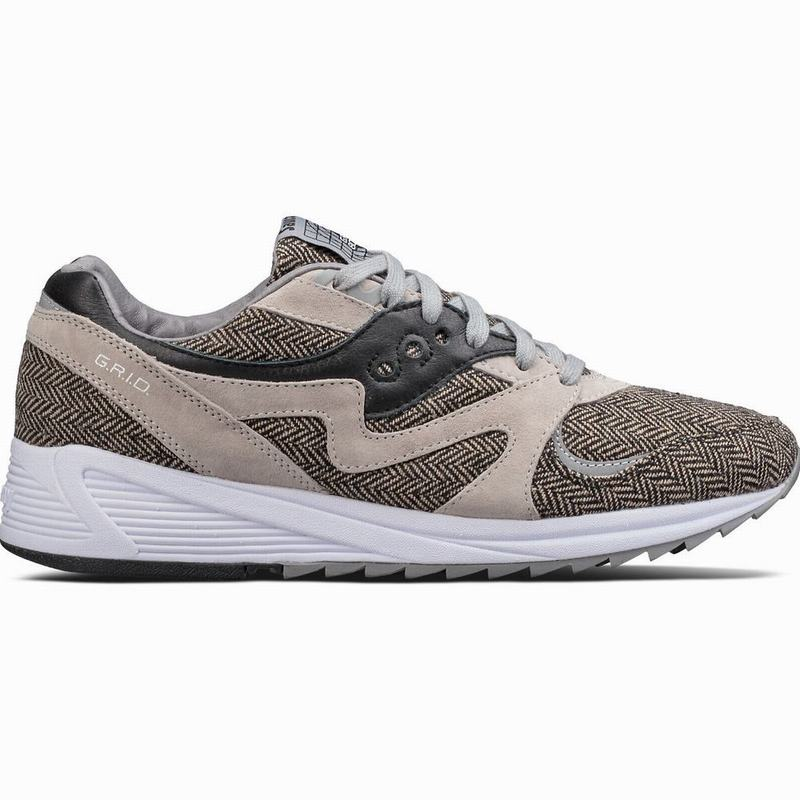 Saucony Grid 8000 CL HT Tailored Originals Herren Grau/Schwarz YR3536WK