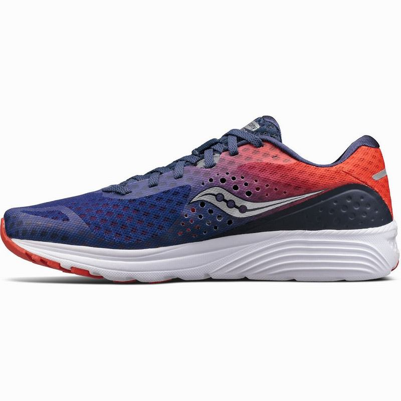 Saucony Kinvara 8 Laufschuhe Damen Neutral Navy/Orange GU4764ZS
