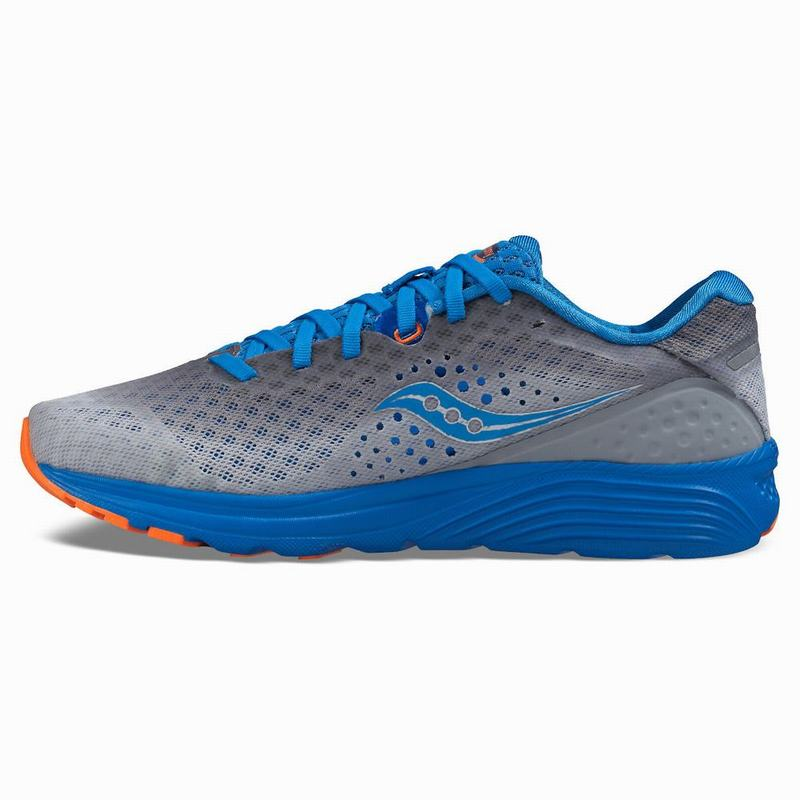 Saucony Kinvara 8 Laufschuhe Damen Neutral Grau/Blau/Orange JR2499MQ