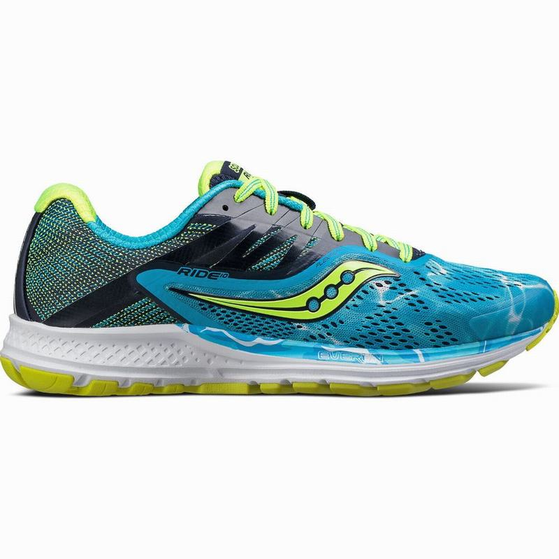 Saucony Ride 10 Endless Sommer Laufschuhe Damen Neutral Blau/Grün KB6376BQ