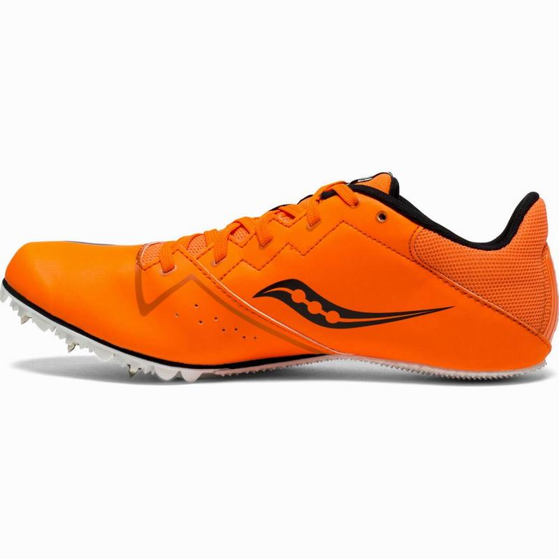 Saucony Spitfire 4 Spikes Herren Orange/Schwarz ZC3339PH