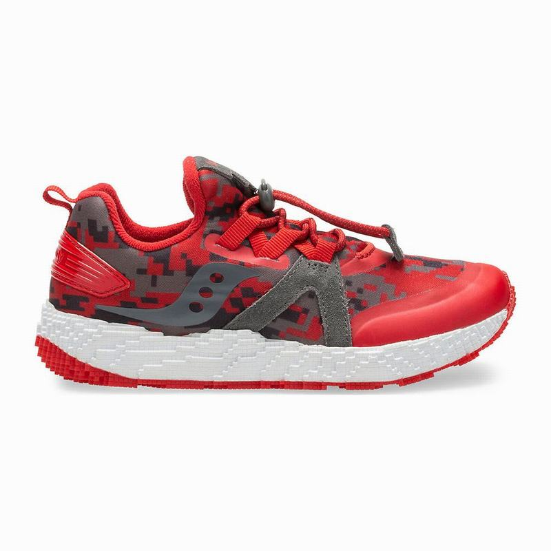 Saucony Voxel 9000 Sneaker Mädchen Rot/Grau PE4390AD